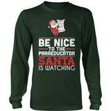 Paraeducator - Be Nice Holiday - District Long Sleeve / Dark Green / S - 5