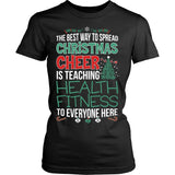 Phys Ed - Christmas Cheer - District Made Womens Shirt / Black / S - 10
