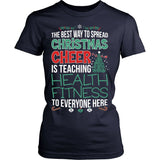 Phys Ed - Christmas Cheer - District Made Womens Shirt / Navy / S - 13