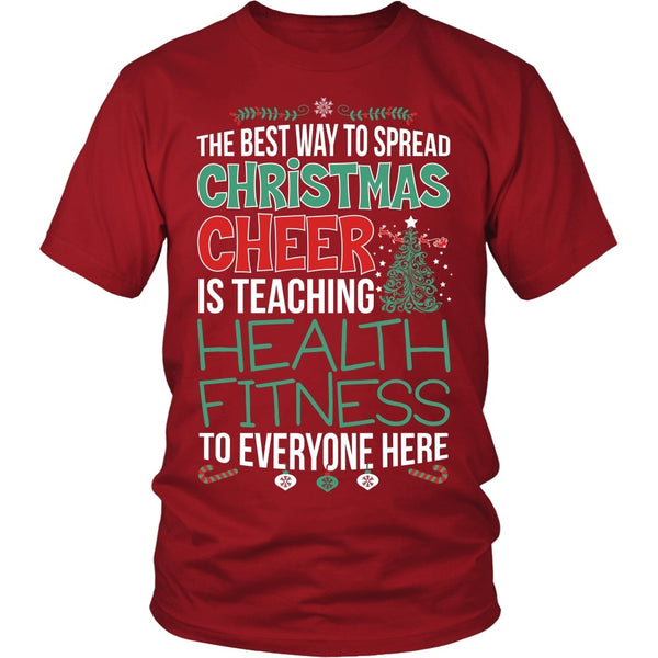 Phys Ed - Christmas Cheer - District Unisex Shirt / Red / S - 1