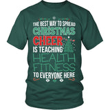 Phys Ed - Christmas Cheer - District Unisex Shirt / Dark Green / S - 3