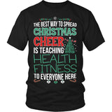 Phys Ed - Christmas Cheer - District Unisex Shirt / Black / S - 4