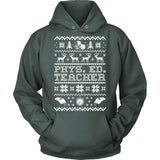 Phys Ed - Ugly Sweater - Hoodie / Dark Green / S - 3