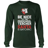 Preschool - Be Nice Holiday - District Long Sleeve / Dark Green / S - 1
