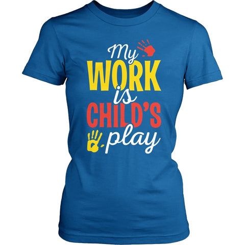 Preschool - Childs Play - District Made Womens Shirt / Royal / S - 1