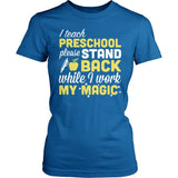 Preschool - Magic - District Made Womens Shirt / Royal / S - 4