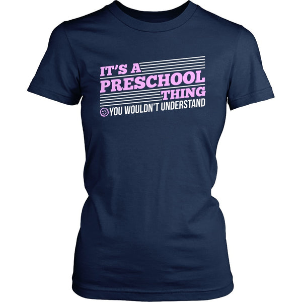 Preschool - Preschool Thing - District Made Womens Shirt / Navy / S - 1