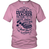 Preschool Teacher - Crazy Fantasy - District Unisex Shirt / Pink / S - 3