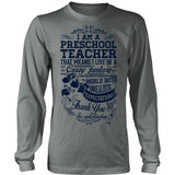 Preschool Teacher - Crazy Fantasy - District Long Sleeve / Grey / S - 5