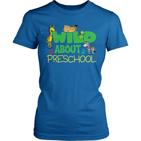 Preschool - Wild - District Made Womens Shirt / Royal / S - 1