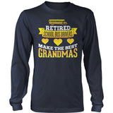 School Bus Driver - Best Grandmas - District Long Sleeve / Navy / S - 10