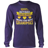 School Bus Driver - Best Grandmas - District Long Sleeve / Purple / S - 11