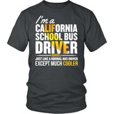 School Bus Driver - California Cooler - District Unisex Shirt / Charcoal / S - 1
