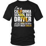 School Bus Driver - California Cooler - District Unisex Shirt / Black / S - 4