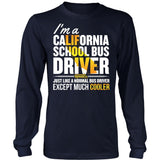 School Bus Driver - California Cooler - District Long Sleeve / Navy / S - 5