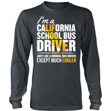 School Bus Driver - California Cooler - District Long Sleeve / Charcoal / S - 6