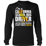 School Bus Driver - California Cooler - District Long Sleeve / Black / S - 7