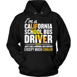School Bus Driver - California Cooler - Hoodie / Black / S - 8