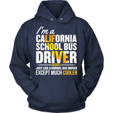 School Bus Driver - California Cooler - Hoodie / Navy / S - 9