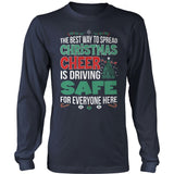 School Bus Driver - Christmas Cheer - District Long Sleeve / Navy / S - 10