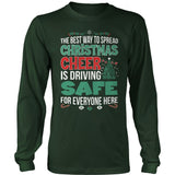 School Bus Driver - Christmas Cheer - District Long Sleeve / Dark Green / S - 9