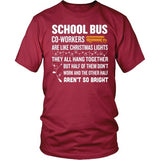 School Bus Driver - Christmas Co-workers - District Unisex Shirt / Red / S - 3