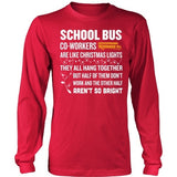 School Bus Driver - Christmas Co-workers - District Long Sleeve / Red / S - 5