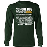 School Bus Driver - Christmas Co-workers - District Long Sleeve / Dark Green / S - 6