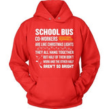 School Bus Driver - Christmas Co-workers - Hoodie / Red / S - 8