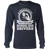 School Bus Driver - Created Equal - District Long Sleeve / Navy / S - 10