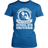 School Bus Driver - Created Equal - District Made Womens Shirt / Royal / S - 4