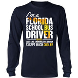 School Bus Driver - Florida Cooler - District Long Sleeve / Navy / S - 5