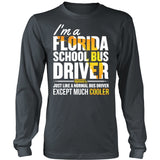 School Bus Driver - Florida Cooler - District Long Sleeve / Charcoal / S - 6