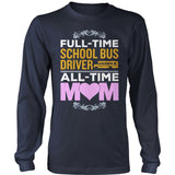 School Bus Driver - Full Time - District Long Sleeve / Navy / S - 10