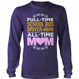 School Bus Driver - Full Time - District Long Sleeve / Purple / S - 11