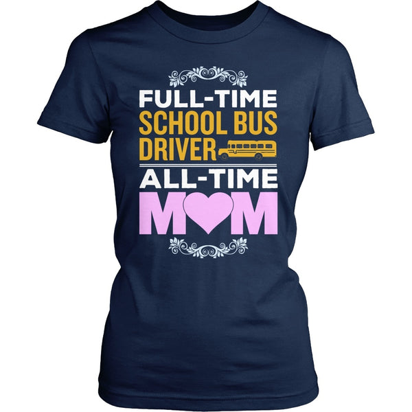 School Bus Driver - Full Time - District Made Womens Shirt / Navy / S - 1