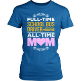 School Bus Driver - Full Time - District Made Womens Shirt / Royal / S - 4