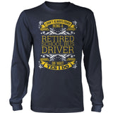 School Bus Driver - I Don't Always - District Long Sleeve / Navy / S - 10