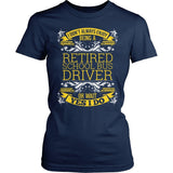 School Bus Driver - I Don't Always - District Made Womens Shirt / Navy / S - 3