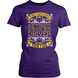 School Bus Driver - I Don't Always - District Made Womens Shirt / Purple / S - 4