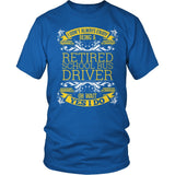 School Bus Driver - I Don't Always - District Unisex Shirt / Royal Blue / S - 8