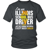 School Bus Driver - Illinois Cooler - District Unisex Shirt / Charcoal / S - 1