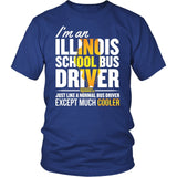 School Bus Driver - Illinois Cooler - District Unisex Shirt / Royal Blue / S - 2