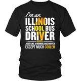 School Bus Driver - Illinois Cooler - District Unisex Shirt / Black / S - 4