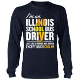 School Bus Driver - Illinois Cooler - District Long Sleeve / Navy / S - 5