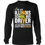 School Bus Driver - Illinois Cooler - District Long Sleeve / Black / S - 7