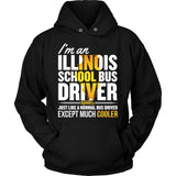 School Bus Driver - Illinois Cooler - Hoodie / Black / S - 8