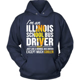 School Bus Driver - Illinois Cooler - Hoodie / Navy / S - 9