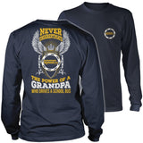 School Bus Driver - Never Underestimate - District Long Sleeve / Navy / S - 10