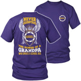 School Bus Driver - Never Underestimate - District Unisex Shirt / Purple / S - 3